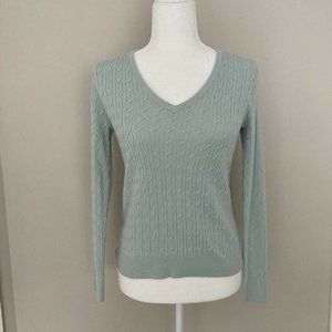 Talbots Womens Cable Knit Sweater Size S